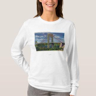 Camiseta Vista da ponte de George Washington