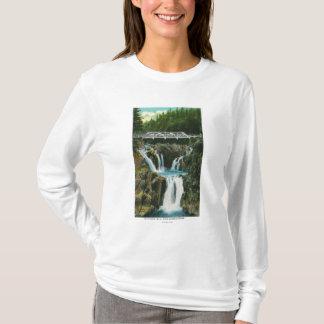 Camiseta Vista de quedas e de ponte da rocha da separação