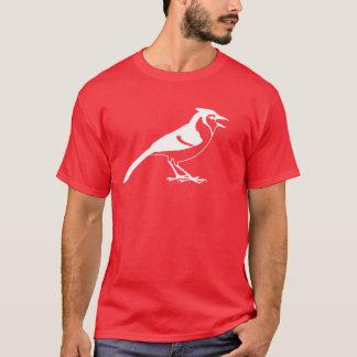 Camiseta Vista lateral de uma silhueta do pássaro de Jay