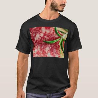 Camiseta Vista macro da salsicha e do bacon
