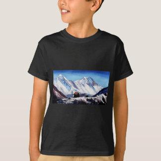 Camiseta Vista panorâmica da área de acampamento base da