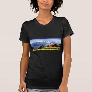 Camiseta Vista panorâmica da montanha bonita de Everest