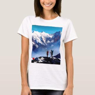 Camiseta Vista panorâmica da montanha máxima de Ama Dablam