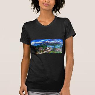 Camiseta Vista panorâmica da montanha Nepal de Everest