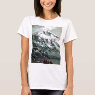 Camiseta Vista panorâmica do acampamento base de Everest