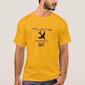 Camiseta Vista para baixo em pessoas