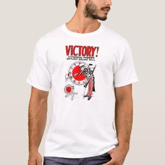 Camiseta Vitória! Anúncio do governo dos E.U. do tempo das