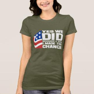 Camiseta Vitórias de Obama