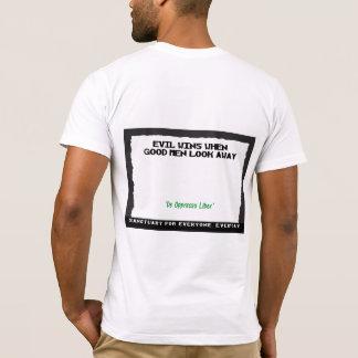 Camiseta Vitórias do mau quando os bons homens olharem