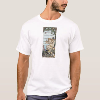 Camiseta Vitral da sereia de Elihu Vedder do vintage