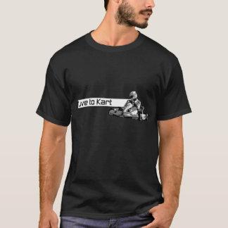 Camiseta Viva ao t-shirt preto de Kart