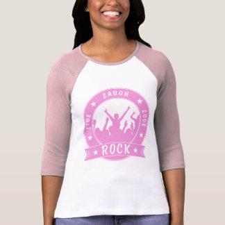 Camiseta Vive a ROCHA do amor do riso (o rosa)