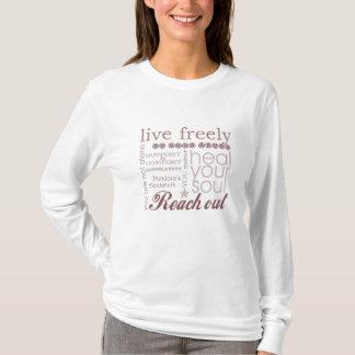 Camiseta Vive livremente o Hoodie