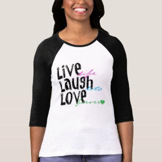 Camiseta Vive o amor do riso