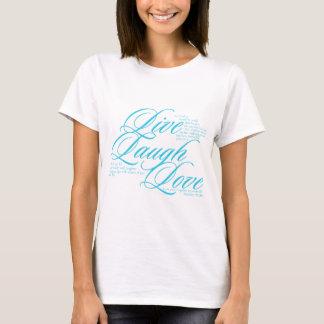 Camiseta Vive o amor do riso com a escritura