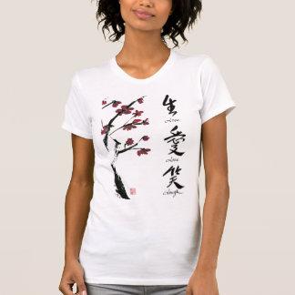 Camiseta Vive o t-shirt do amor do riso