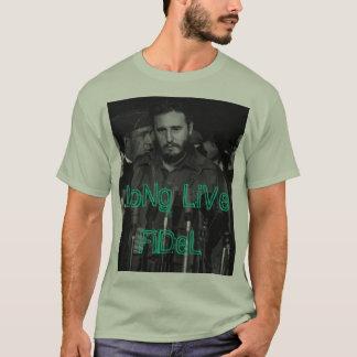 """Camiseta """"Vive por muito tempo Fidel"""" (o t-shirt)"""