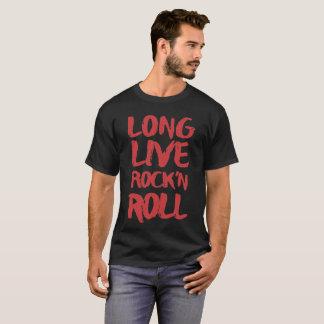 Camiseta Vive por muito tempo o rock and roll
