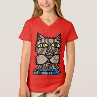 """Camiseta """"Vive t-shirt do V-Pescoço das meninas do momento"""""""