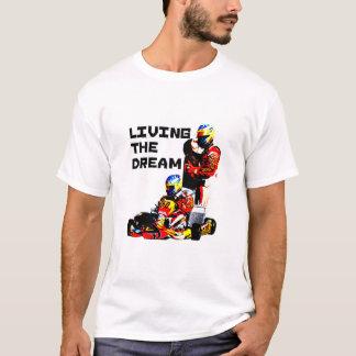 Camiseta Vivendo o t-shirt ideal de Karting