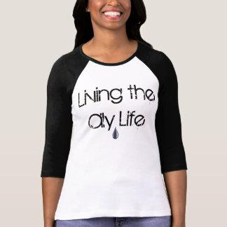 Camiseta Vivendo o TShirt oleoso da vida