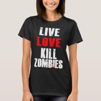 Camiseta Vivo, amor, zombis do matar