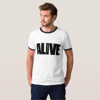 Camiseta Vivo - os homens short o contraste do preto da
