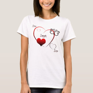 Camiseta Vivo, riso, boneca do Tshirt do amor