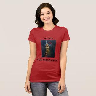 Camiseta Vlad para T do presidente mulheres
