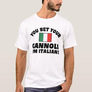 Camiseta Você aposta seu Cannoli que eu sou italiano