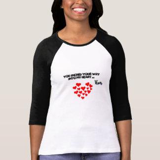 Camiseta Você avançou sua maneira em meu coração