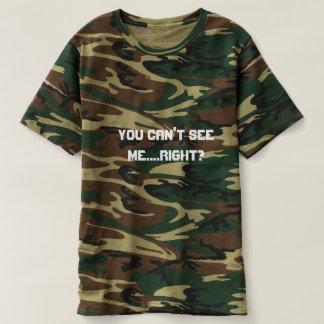 Camiseta você chanfrado vê-me lugar secreto escondendo