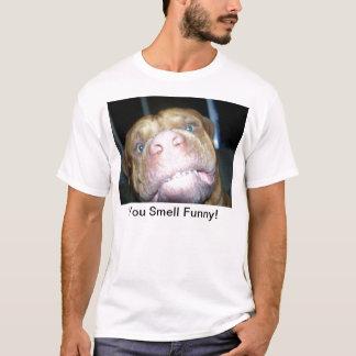 Camiseta Você cheira engraçado!