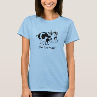 Camiseta Você come que? Vaca