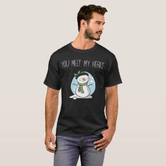 Camiseta Você derrete meu namorada do namorado do inverno