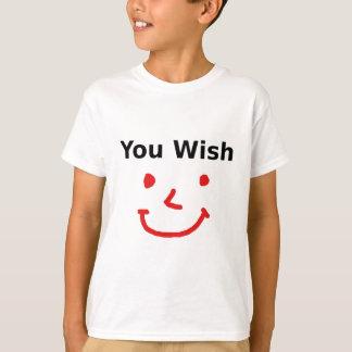 """Camiseta """"Você desejo"""" com smiley face vermelho"""