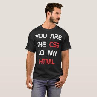 Camiseta Você é o Css a meu Tshirt do HTML