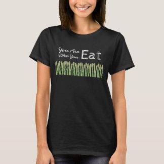 Camiseta Você é o que você come o t-shirt do aspargo