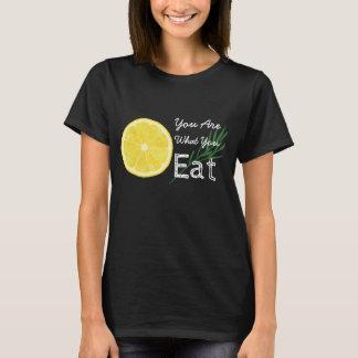 Camiseta Você é o que você come o t-shirt do limão