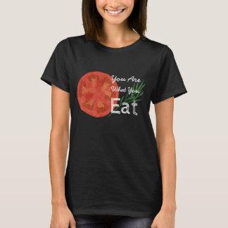Camiseta Você é o que você come o t-shirt do tomate
