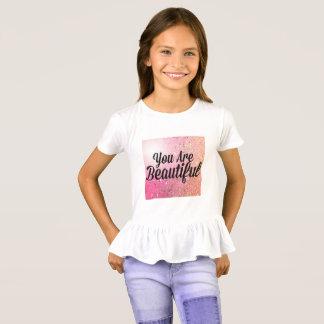 Camiseta Você é parte superior bonita da menina