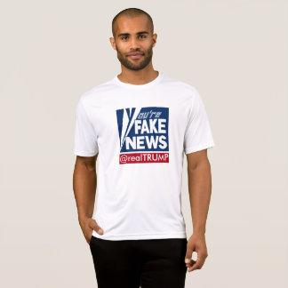 Camiseta Você é t-shirt falsificado da notícia (os homens)