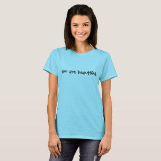 Camiseta Você é Tshirt verdadeiro bonito da beleza