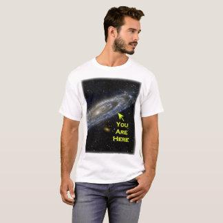 Camiseta Você está aqui na galáxia