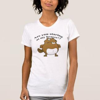 Camiseta Você está olhando fixamente em meu castor?