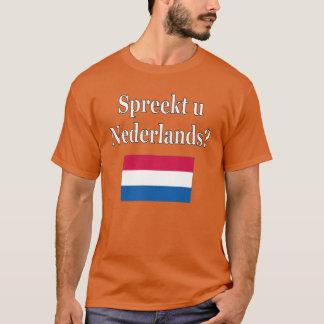 Camiseta Você fala o Dutch? no Dutch. Bandeira