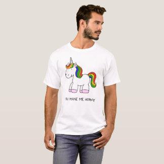 Camiseta Você faz-me o arco-íris Horny do unicórnio