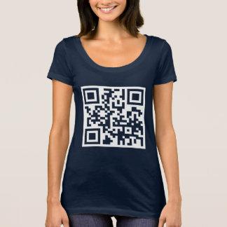 Camiseta Você gosta de dançar? Código de QR