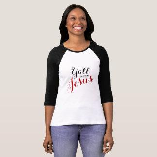 Camiseta Você precisa Jesus - T do basebol