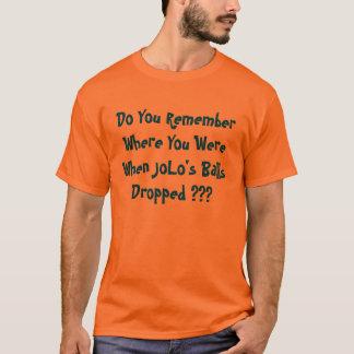 Camiseta Você recorda onde você estava quando a bola de